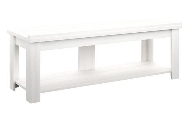 HMidea White Oak 60 Inch Transitional TV Stand RH-J008-160-003