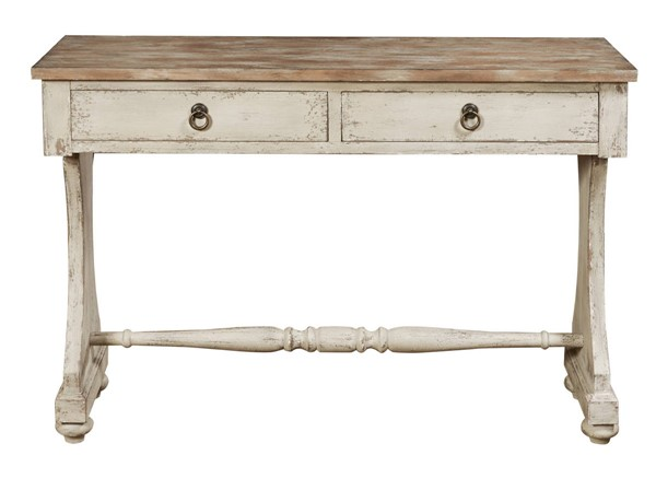 Home Meridian White Two Tone Drawer Console Table RH-P017145
