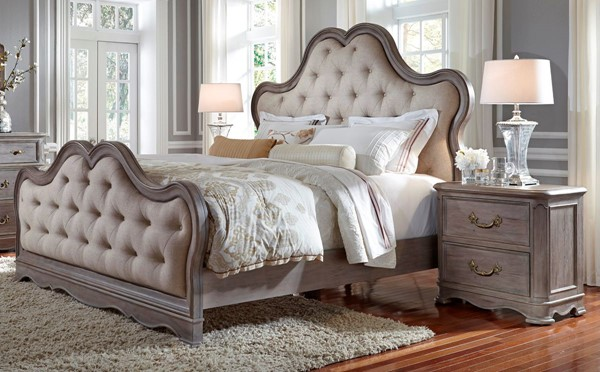 Pulaski Simply Charming Weathered Grey 2pc Bedroom Set with Queen Bed RH-P043-BR-S1