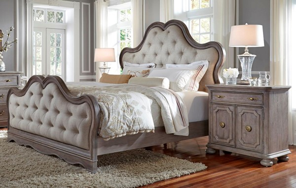 Pulaski Simply Charming Weathered Grey 2pc Cal King Bed Set with Chest RH-P043-BR-S6