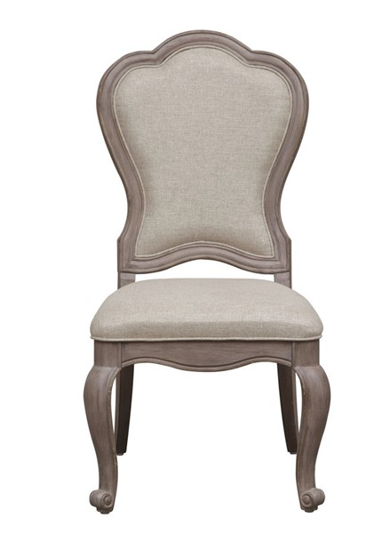 Pulaski Simply Charming Weathered Grey Upholstered Side Chair RH-P043270