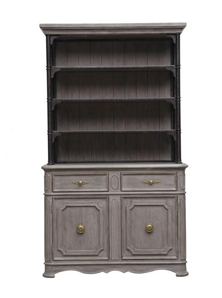 Pulaski Simply Charming Weathered Grey Sideboard with Hutch RH-P043-DR-K5