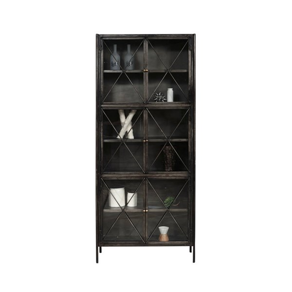 Home meridian everett black display cabinet the classy home for Meridian cabinet doors