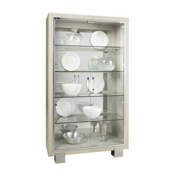 Pulaski Cydney White Solid Wood Touch Lighting 5 Shelf Curio RH-P053304