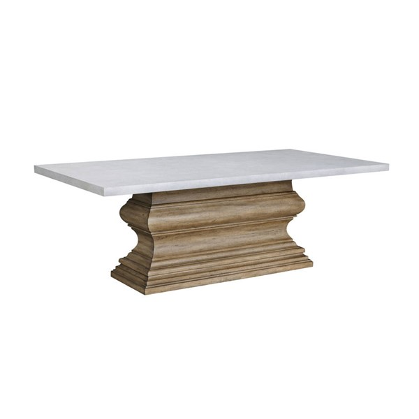 Pulaski The Art Of Dining Grey Brown Crown Molding Base Dining Table RH-P119-DR-K4