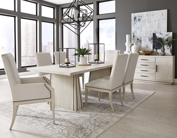 Pulaski District 3 White 7pc Dining Room Set with Arm Chair RH-P151-DR-S2
