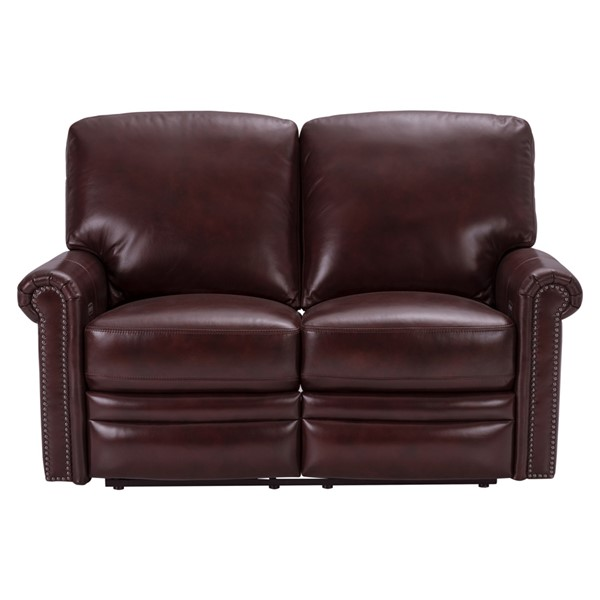 Home Meridian Red Grant Leather Power Reclining Loveseat RH-P916-203-1740