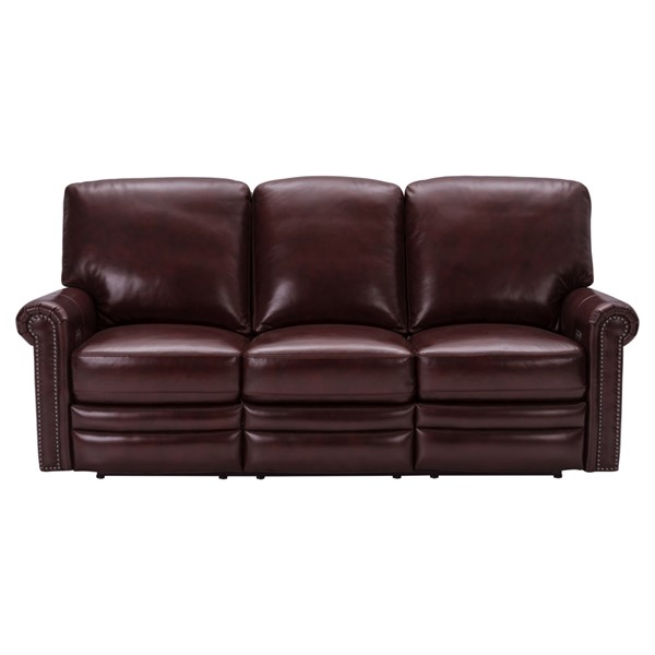 Home Meridian Red Grant Leather Power Reclining Sofa RH-P916-403-1740
