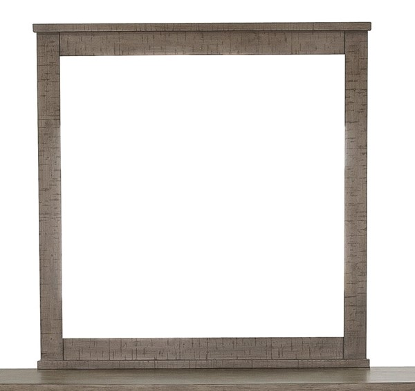 Samuel Lawrence Ruff Hewn Weathered Taupe Landscape Mirror RH-S079-030
