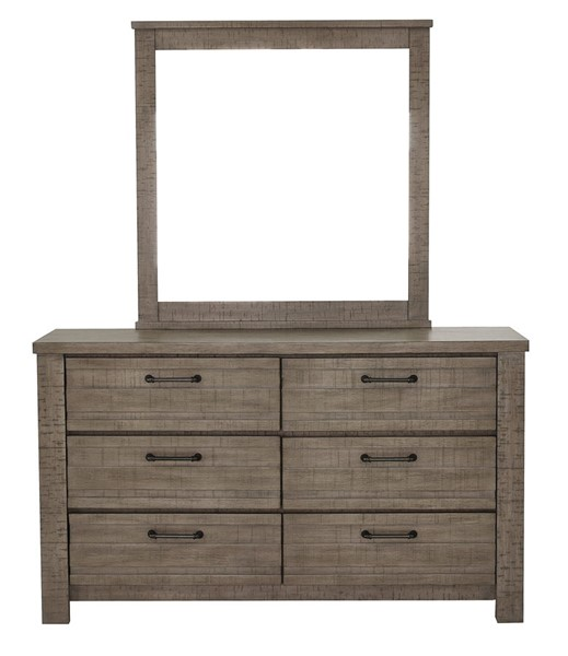 Samuel Lawrence Ruff Hewn Weathered Taupe Dresser and Mirror RH-S079-DRMR