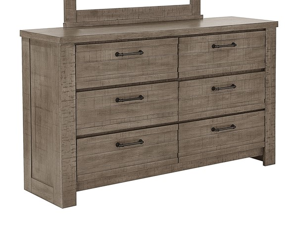 Samuel Lawrence Ruff Hewn Weathered Taupe 6 Drawer Dresser RH-S079-010