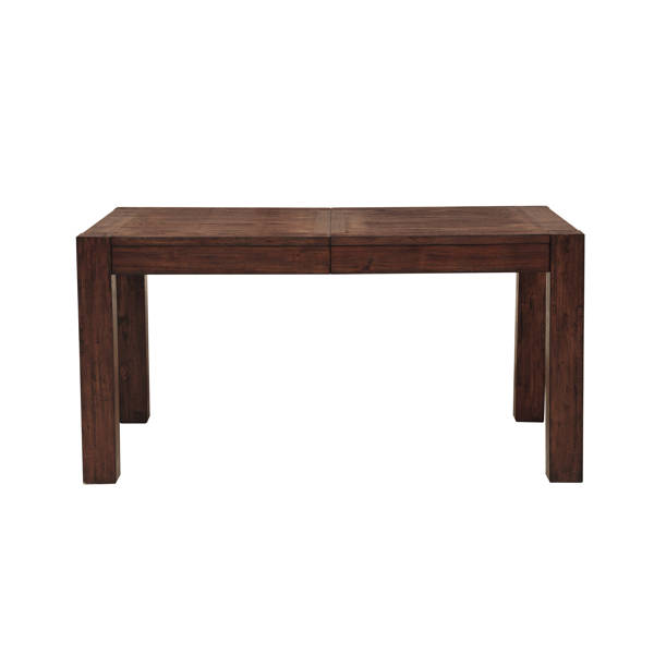 Home Meridian Henna Brown Rectangle Dining Leg Table RH-S152-135