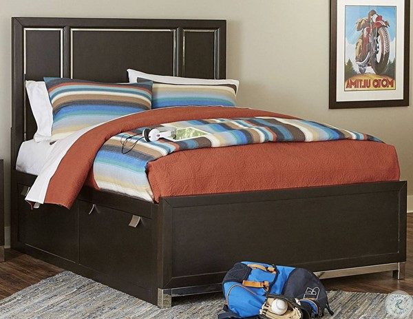 Samuel Lawrence Metro Charcoal Gray Panel Beds with Trundle RH-S258-TS-BED-VAR