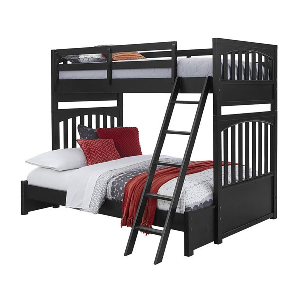Samuel Lawrence Charcoal Twin Full Bunk Bed RH-S302-BR-K2