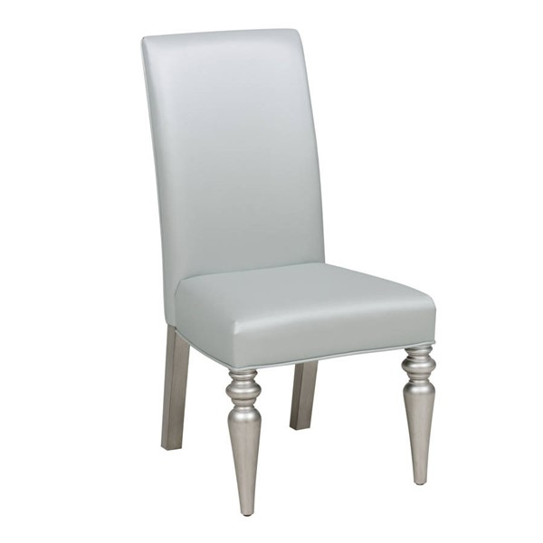 Samuel Lawrence Silver PVC Solid Wood Side Chair RH-S338-154