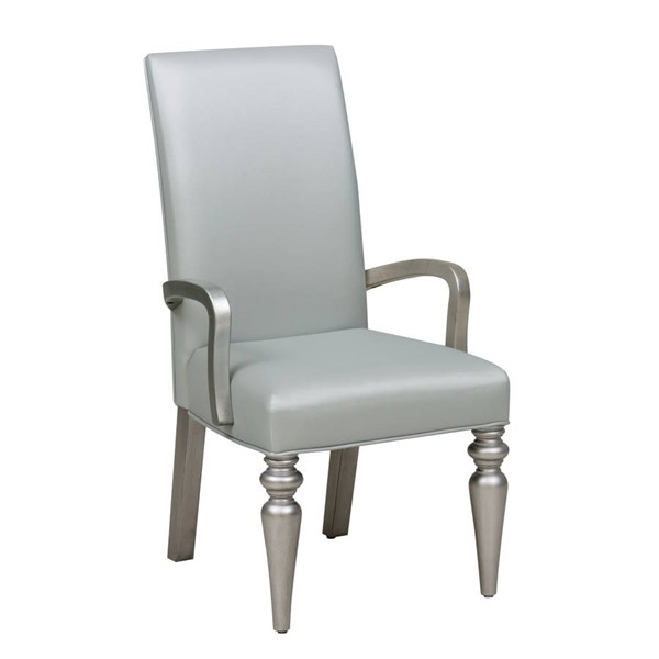 Samuel Lawrence Silver PVC Solid Wood Arm Chair RH-S338-155