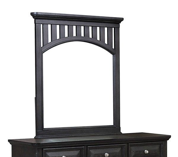 Samuel Lawrence Tundra Charcoal Brown Landscape Dresser Mirror RH-S384-430