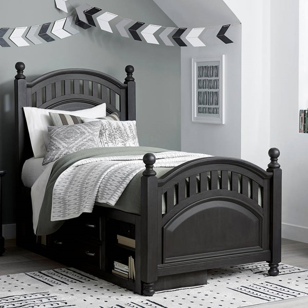 Samuel Lawrence Tundra Charcoal Brown Poster Storage Beds RH-S384-PSTS-BED-VAR