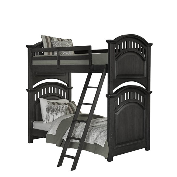 Samuel Lawrence Tundra Charcoal Brown Twin Twin Bunk Bed RH-S384-TT-BB