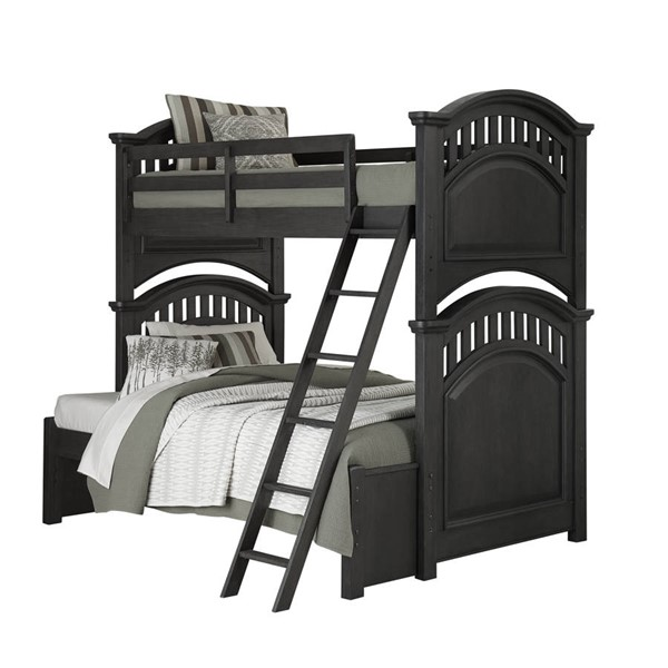 Samuel Lawrence Tundra Charcoal Brown Twin Full Bunk Bed RH-S384-TF-BB