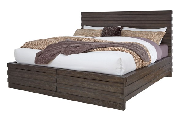 Home Meridian Brown Stackhaus King Bed With Storage Footboard RH-S451-BR-K4