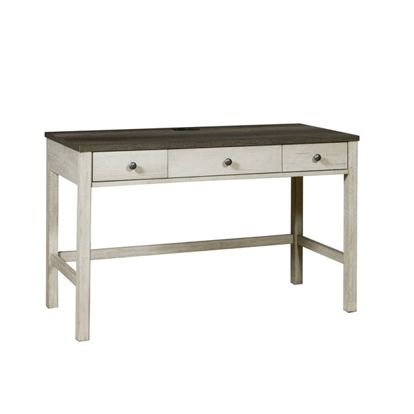 Samuel Lawrence Whitewash 3 Drawer Desk with USB Charging RH-S466-414