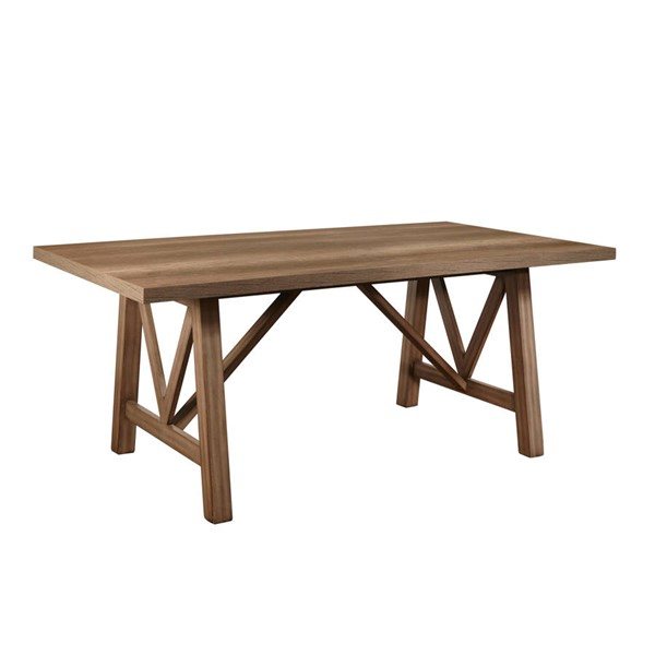 Samuel Lawrence Carlton Brown Trestle Dining Table RH-S566-131