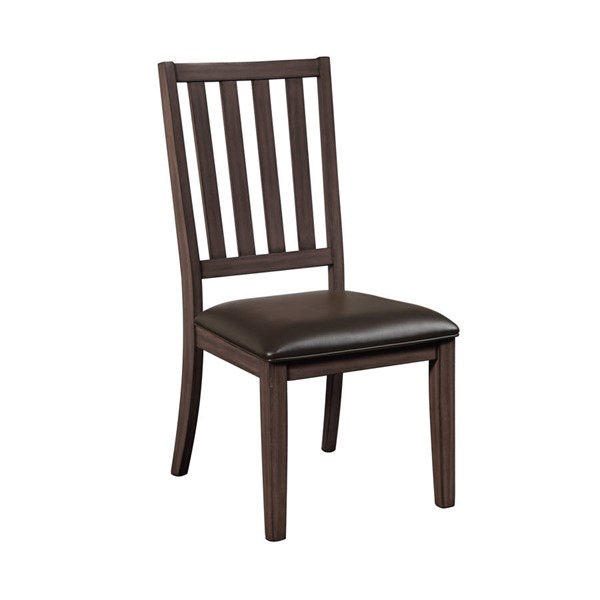Samuel Lawrence Oxford Brown Slat Back Side Chair RH-S572-150