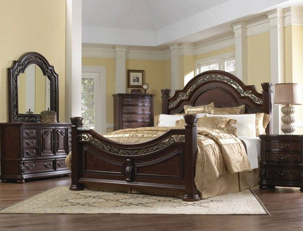 San Marino Brown Hardwood 5pc Bedroom Set w/Cal King Bed RH-3530-BR-SET2