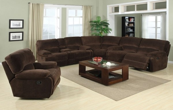 Walcott Dark Brown Dacron Polyester Fabric Wood  Living Room Set RH-735-SEC