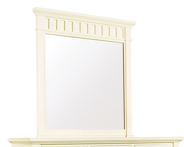 Winter Park Traditional White Wood Glass Mirror RH-8110-430