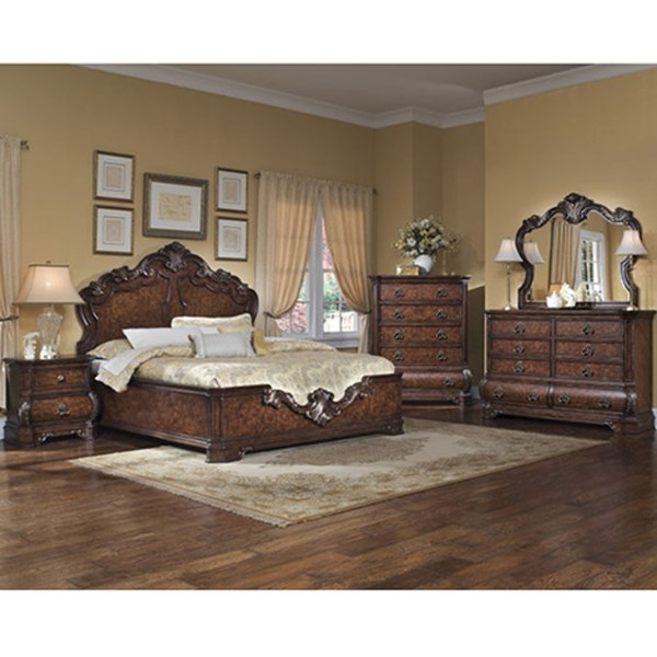 Wellington Medium Brown Manor 6/6 Panel Headboard RH-962180 RH-962180