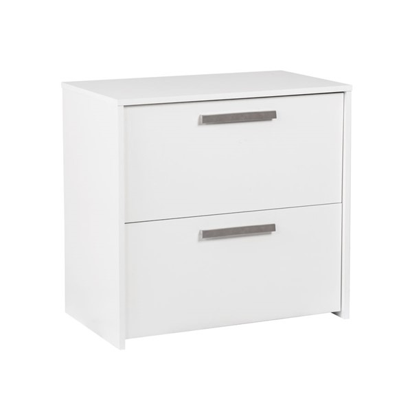 Saint Birch Alaska White Wood Grain Two Drawers Lateral File SANT-SBAK4500LFWW