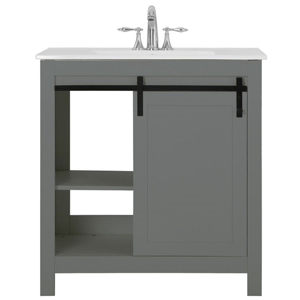 Saint Birch Gray White 32 Inch Single Bathroom Vanity SANT-DOJT2003BVG