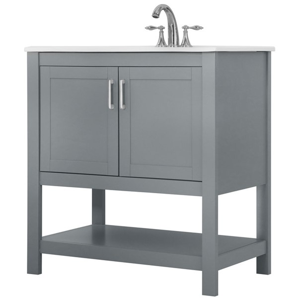 Saint Birch Modern Gray 32 Inch Single Bathroom Vanity SANT-DOJT2004BVG