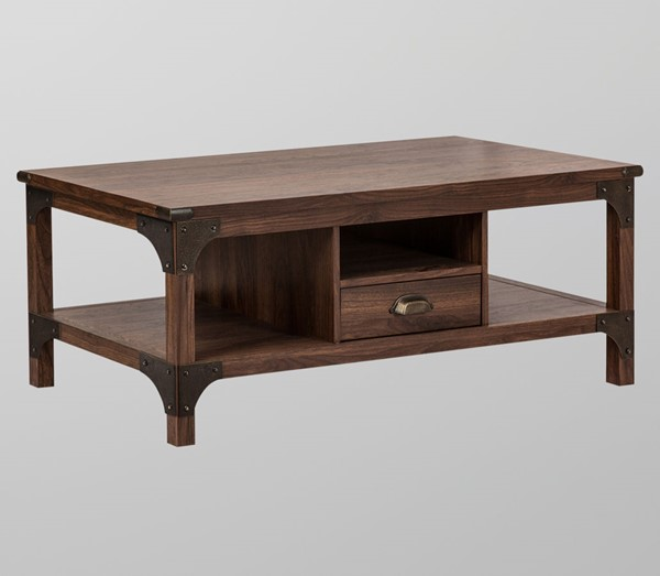 Saint Birch Logan Walnut One Drawers Coffee Table SANT-SBLG8005CTWN