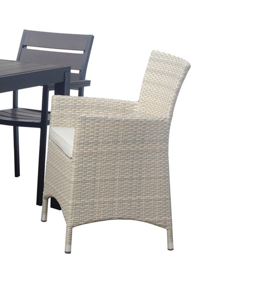 2 Saint Birch Larsson Black Dark Brown Outdoor Dining Chairs SANT-SBDYOK1GBGLC2