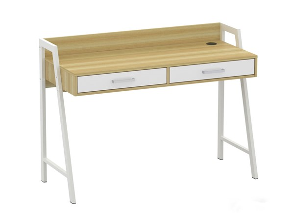 Saint Birch Fenton Natural White Two Drawers 47 Inch Writing Desk SANT-SBFT1004WDNW