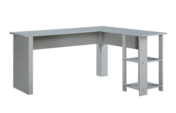 Saint Birch Hanzila Cape Code Gray L Shape Executive Desk SANT-SBPH1020LDAG