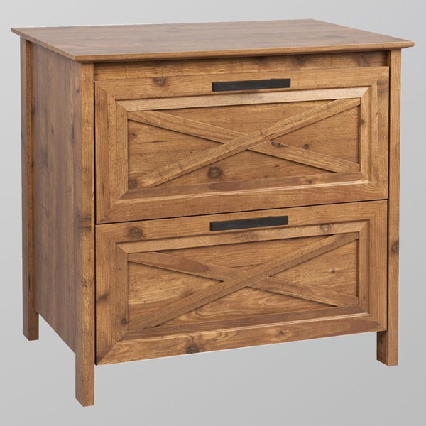 Saint Birch Austin Rustic Brown Two Drawers Lateral Filing Cabinet SANT-SBSF4002LFRB