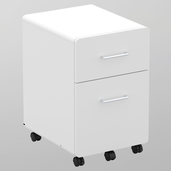 Saint Birch White Two Drawers Mobile Vertical Filing Cabinet SANT-SBSF4100MFMW
