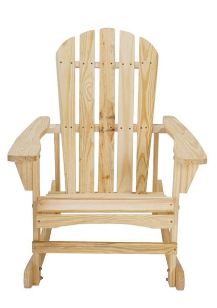 Saint Birch Adirondack Natural Wooden Rocker Chair SANT-SBSWAD002NC
