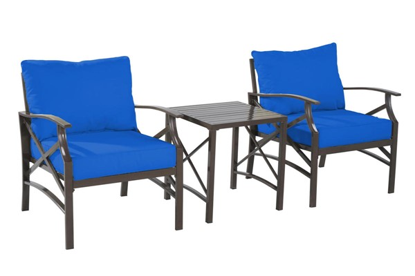 Saint Birch Luxi Navy Blue 2 Lounge Chairs with End Table SANT-SBSWOCS001LCETNB