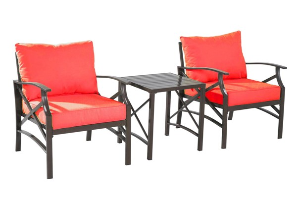 Saint Birch Luxi Orange 2 Lounge Chairs with End Table SANT-SBSWOCS001LCETOR