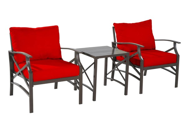 Saint Birch Luxi Red 2 Lounge Chairs with End Table SANT-SBSWOCS001LCETRD