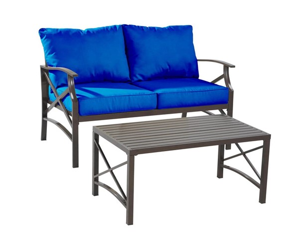 Saint Birch Luxi Navy Blue Loveseat with Coffee Table SANT-SBSWOCS001LSCTNB