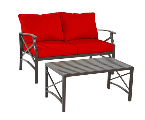 Saint Birch Luxi Red Loveseat with Coffee Table SANT-SBSWOCS001LSCTRD