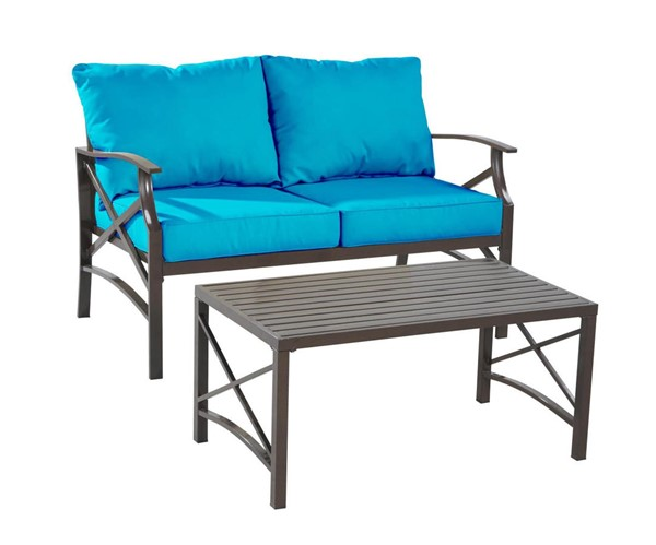 Saint Birch Luxi Sky Blue Loveseat with Coffee Table SANT-SBSWOCS001LSCTSB
