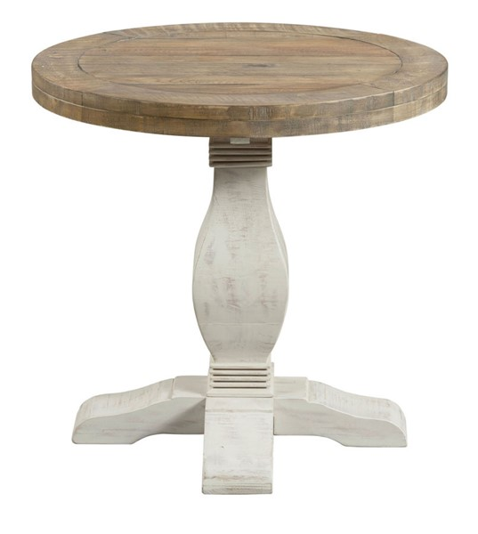 Martin Svensson Napa Natural White Pine Round End Table SBG-860136