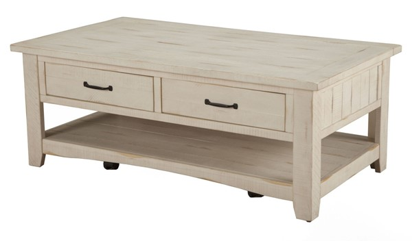 Martin Svensson Rustic Antique White Pine Coffee Table SBG-890123